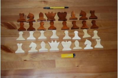 Фигуры для демонстрационной доски деревянные