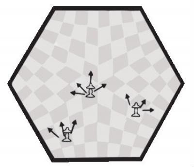 шахматы для троих Большие, код 162
