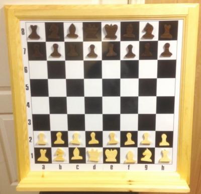 """Демонстрационная шахматная доска """"Деревянная"""""""
