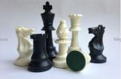 Шахматные фигуры с утяжелением король 9,5 см пластмассовые