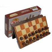 шахматы Магнитные пластмассовые «под дерево» Средние